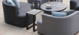 Maze Lounge - Outdoor Fabric Aluminium Side Table - Black