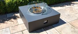 Maze Lounge - Square Gas Fire Pit - Charcoal