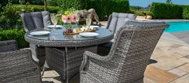Maze Rattan - Victoria 4 Seat Round Dining Set