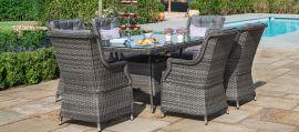 Maze Rattan - Victoria 6 Seat Rectangular Dining Set