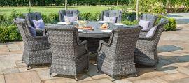 Maze Rattan - Victoria 8 Seat Round Dining Set