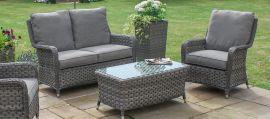 Maze Rattan - Victoria High Back 2 Seat Sofa Set