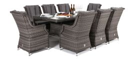 Maze Rattan - Victoria 8 Seat Rectangular Dining Set