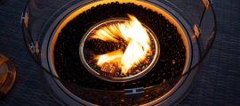 Maze Lounge - Round Gas Fire Pit - Charcoal