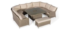Maze Rattan - Winchester Royal U Shaped Sofa Set - With Rising Table