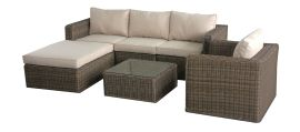 Maze Rattan - Winchester Chaise Corner Sofa Group - With Armchair