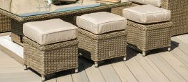 Maze Rattan - Winchester Deluxe Large Corner Dining Set - With Rising Table & Armchair