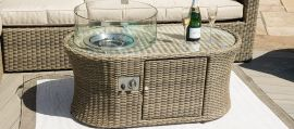 Maze Rattan - Winchester Large Corner Sofa - With Fire Pit