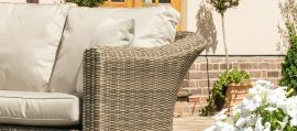 Maze Rattan - Winchester 2 Seat Set - With Firepit Coffee Table
