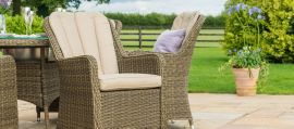 Maze Rattan - Winchester - Venice 8 Seat Oval Dining Set - With Ice Bucket & Lazy Susan