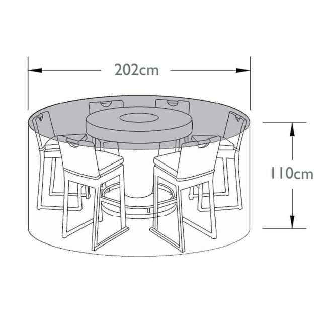 Maze Rattan - 6 Seat Bar Set - Winter Cover