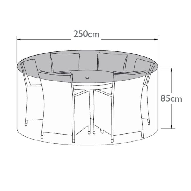 Maze - 6 Seat Round Dining Set - Winter Cover