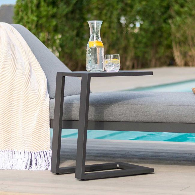 Maze Lounge - Outdoor Fabric Aluminium Side Table - Grey