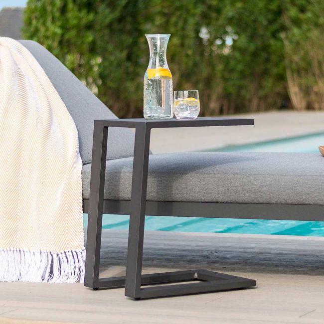 Maze Lounge - Outdoor Fabric Aluminium Side Table - Grey