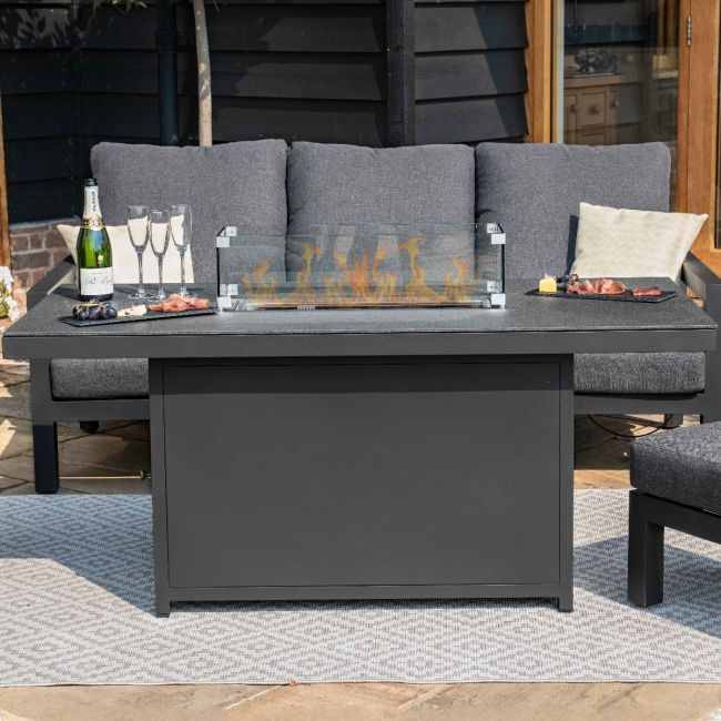 Maze Lounge - Aluminium Fire Pit Dining Table