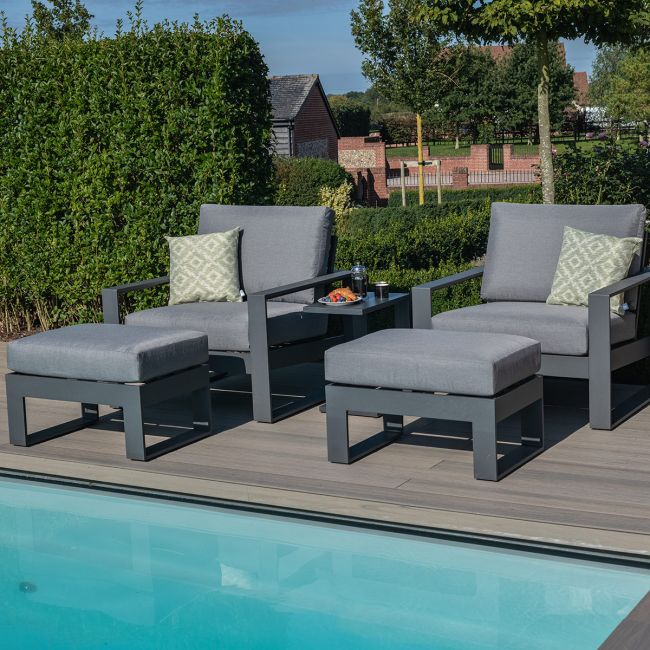 Maze - Amalfi 5pc Lounge Set - Grey