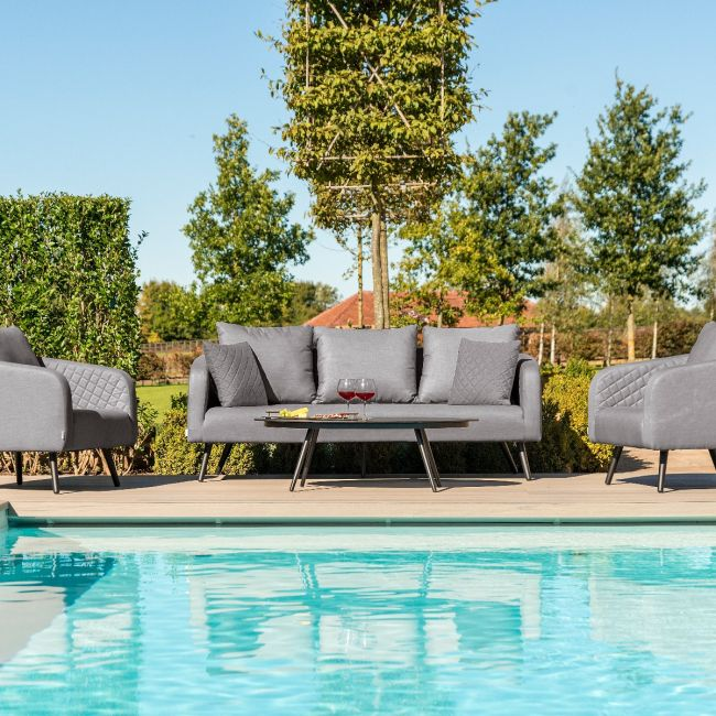 Maze Lounge - Outdoor Fabric Ambition 3 Seat Sofa Set