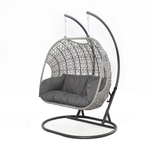 Maze Rattan - Ascot Double Hanging Chair - With Weatherproof Cushions
