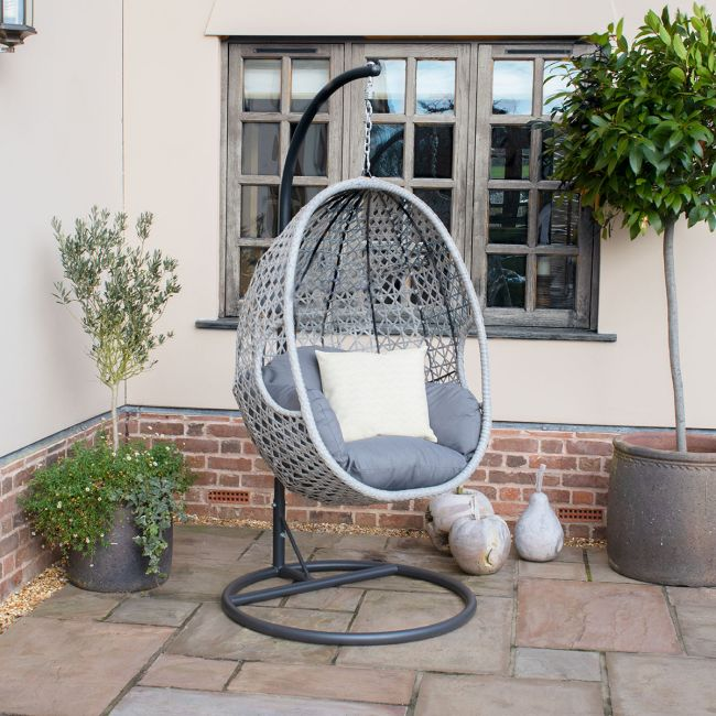 Maze Rattan - Ascot Hanging Chair - With Weatherproof Cushions