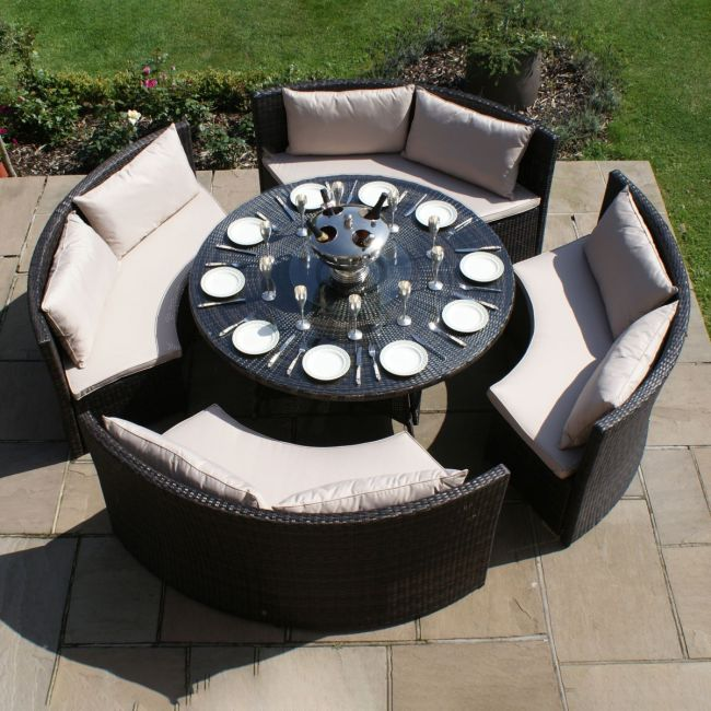 Maze Rattan - Dallas Sofa Dining Set