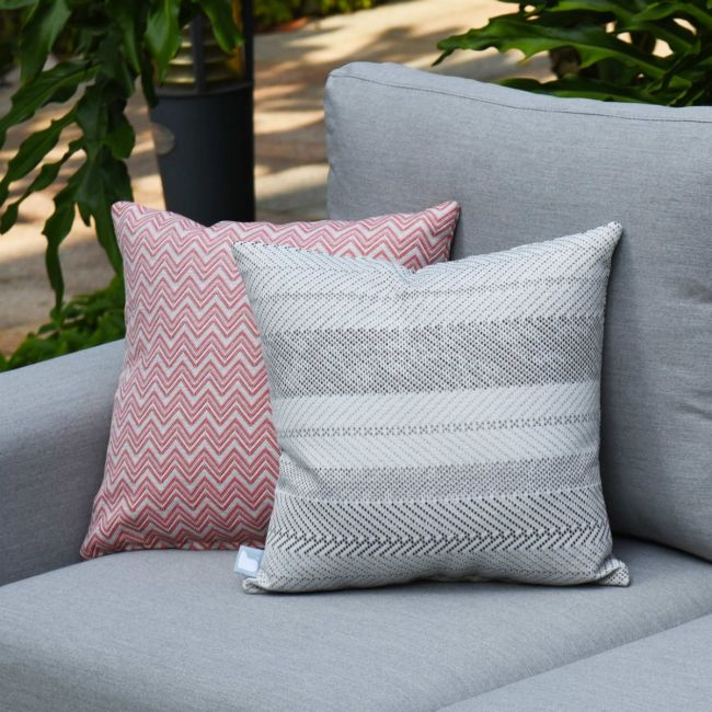 Maze - Outdoor Scatter Cushion - Bora Bora Grey
