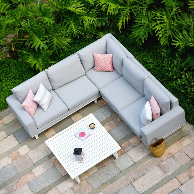 Maze Lounge - Outdoor Fabric Ethos Corner Group - Lead Chine