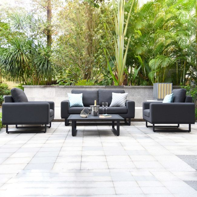 Maze Lounge - Outdoor Fabric Ethos 2 Seat Sofa Set - Charcoal