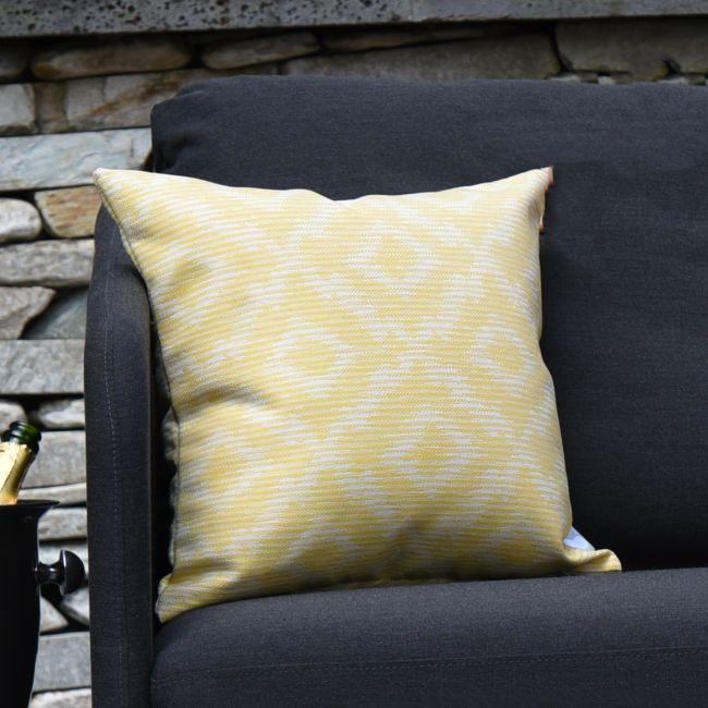 Maze - Pair of Outdoor Scatter Cushion - Santorini Yellow