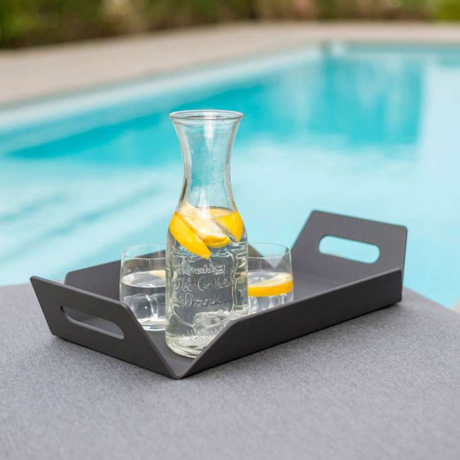 Maze Lounge - Outdoor Fabric Aluminium Table Tray - Grey