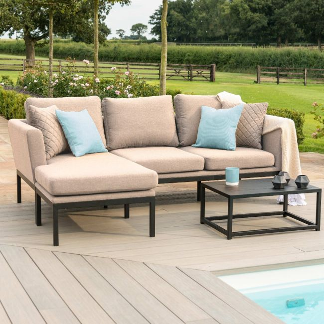 Maze Lounge - Outdoor Fabric Pulse Sofa Set - Taupe