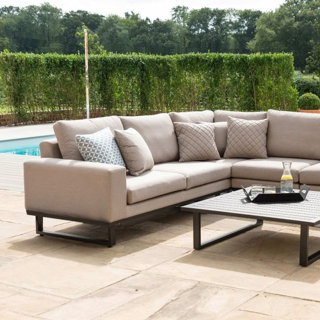 Maze Lounge - Outdoor Fabric Ethos Corner Group - Taupe