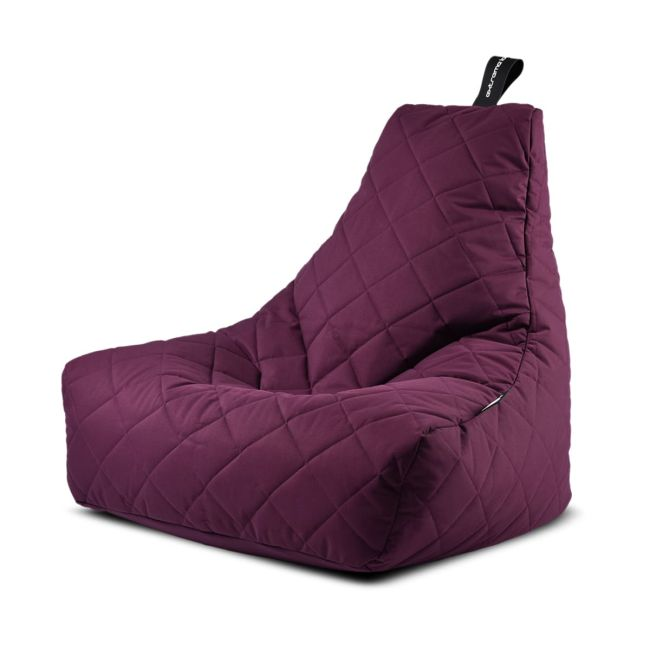 Extreme Lounging - Mighty Quilted Bean Bag - Berry