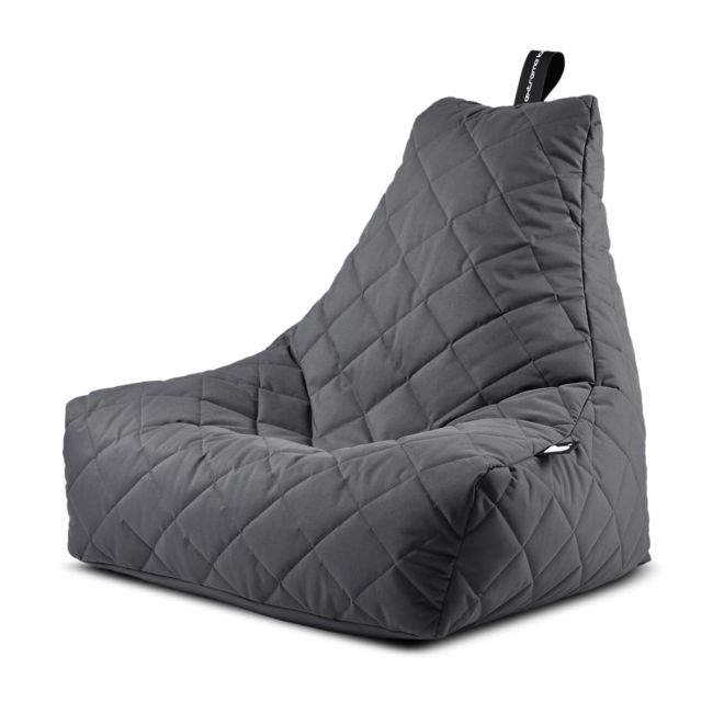 Extreme Lounging - Mighty Quilted Bean Bag - Grey