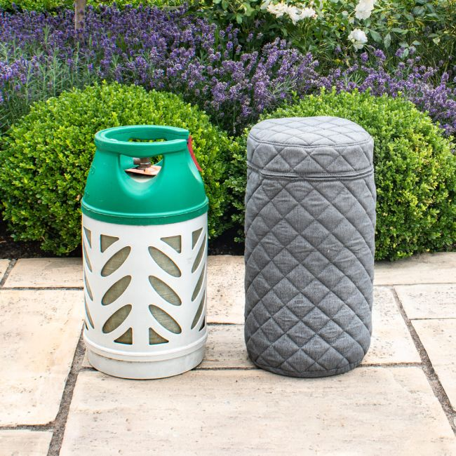 Maze Lounge - Outdoor Fabric 10KG Gas Bottle Cover - Flanelle