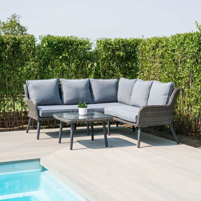 Maze Rattan - Florence Corner Group - Grey