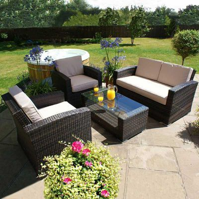 Maze Rattan - Kingston 2 Seat Sofa Set