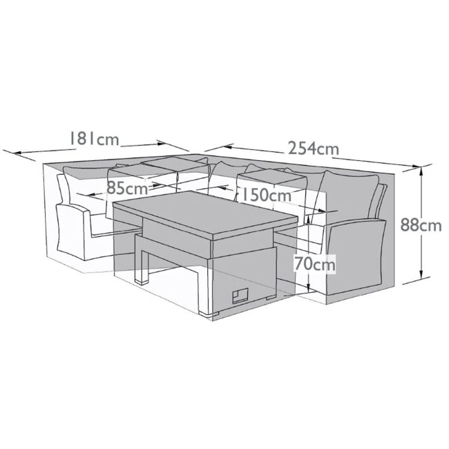 Maze - Large Corner Dining Sofa Set - Winter Cover