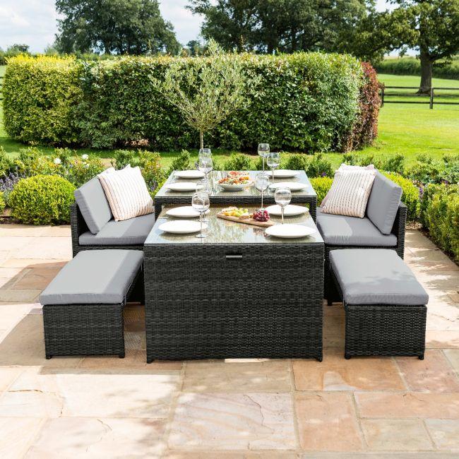 Maze Rattan - Lyon Sofa Set - Grey