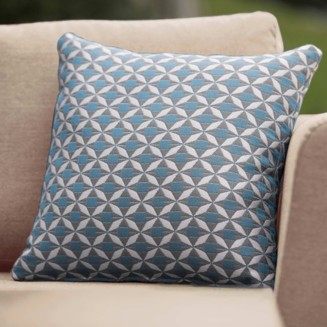 Maze Lounge - Pair of Outdoor Fabric Scatter Cushion - Mosaic Blue