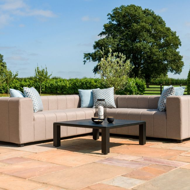 Maze Lounge - Outdoor Fabric Nexus Corner Sofa Group - Taupe