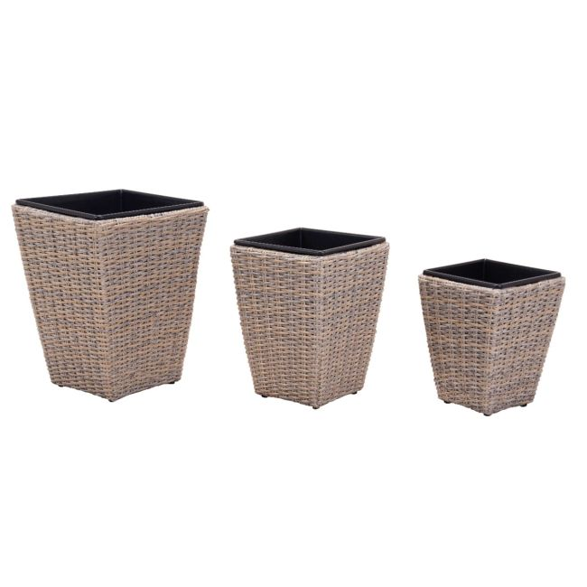 Maze Rattan - Cotswold Shaped Planter Set