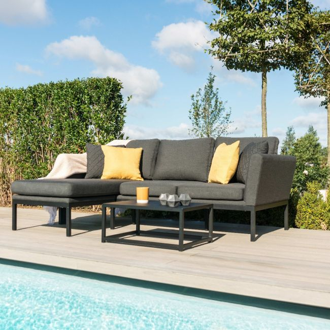 Maze Lounge - Outdoor Fabric Pulse Sofa Set - Charcoal