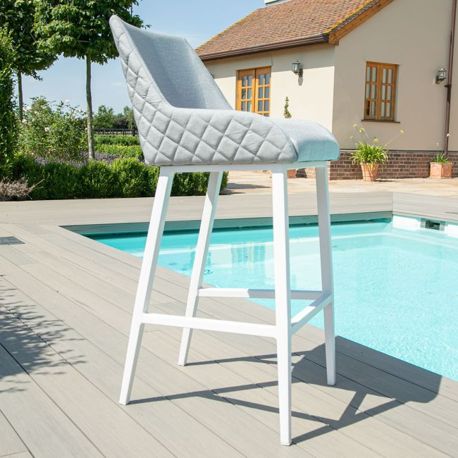 Maze Lounge - Outdoor Fabric Regal Bar Stool - Lead Chine