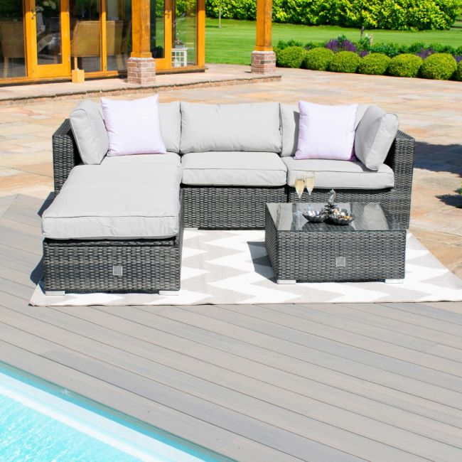 Maze Rattan - Rio Corner Sofa Group - Grey