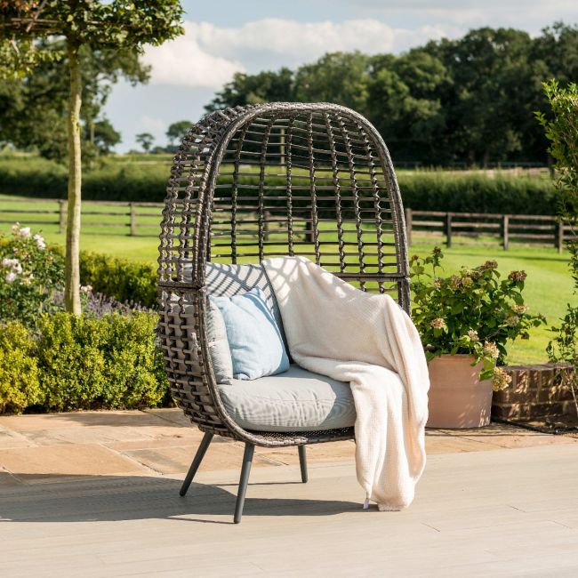 Maze Rattan - Riviera Pod Chair - Grey