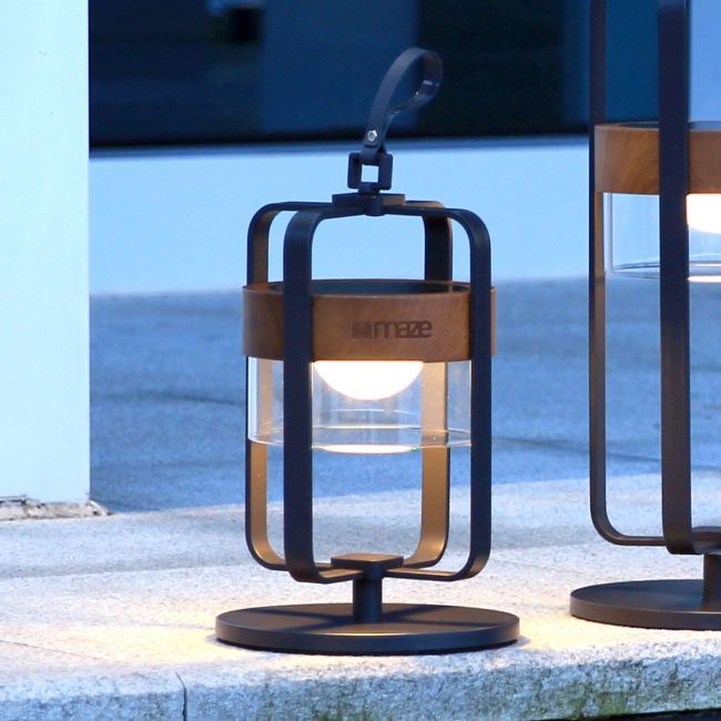 Maze - Satellite Small Solar Light with Stand - Charcoal