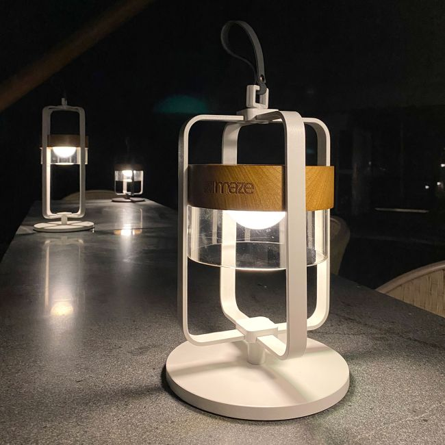 Maze - Satellite Small Solar Light with Stand - White