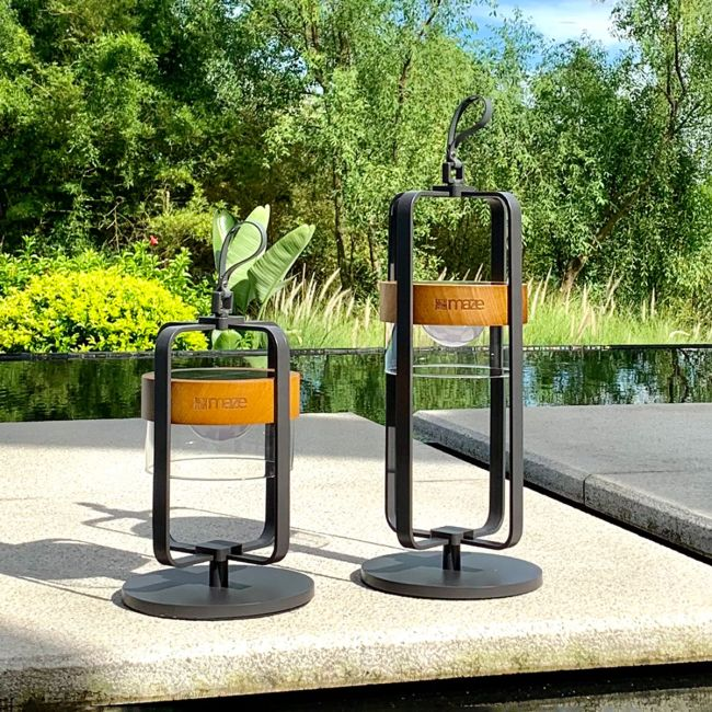 Maze - Satellite Large Solar Light with Stand - Charcoal