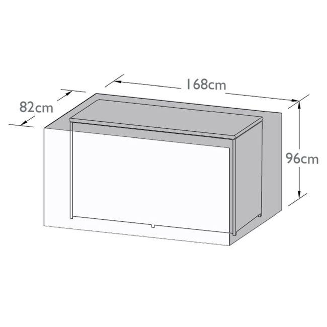 Maze Rattan - Garden Storage Box Cover