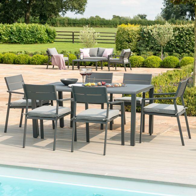 Maze Rattan - Verona 6 Seat Rectangular Dining Set